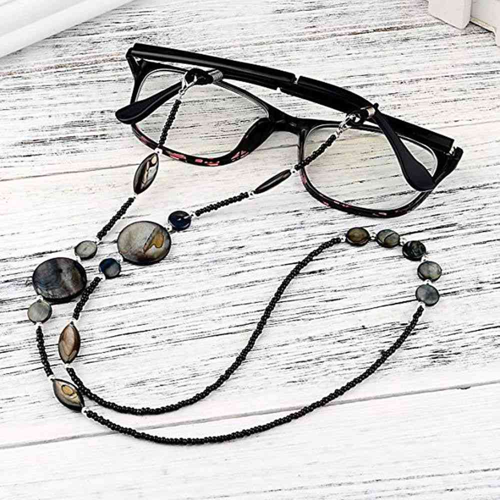 Fashion Reading Glasses Chain For Women Shell Beads Sunglasses Lanyard Hold