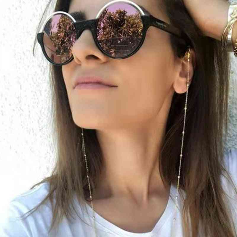 Gold Glasses Chain Sunglasses Laces Necklace Holder