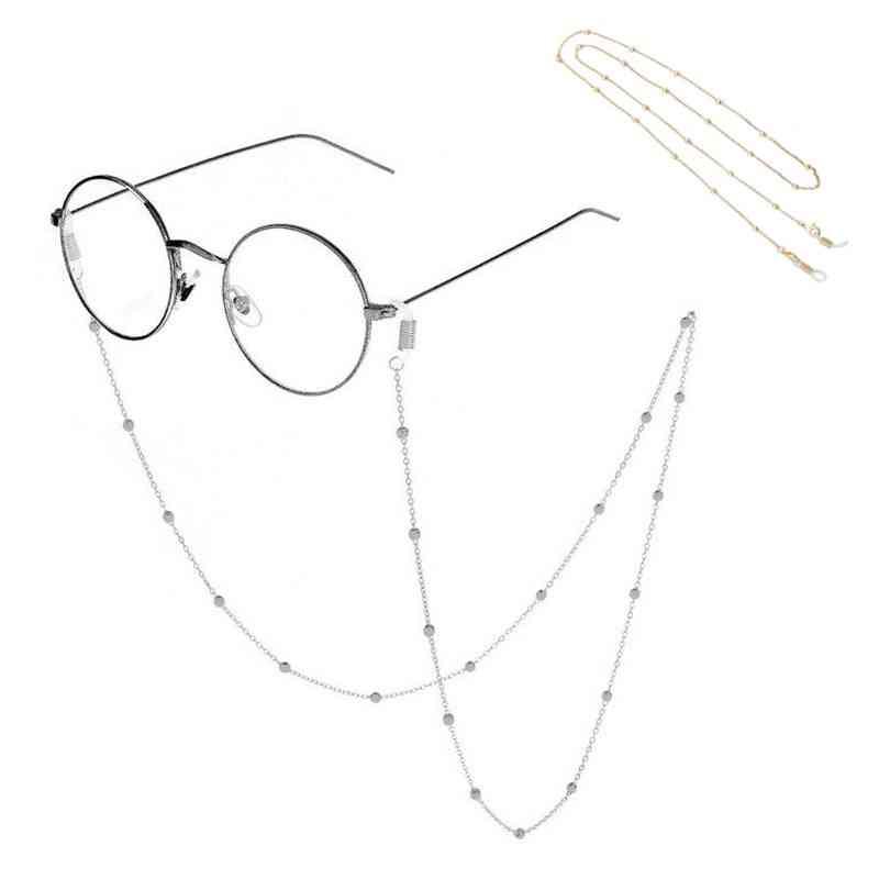 Fashion Women Eyeglass Chains Sunglasses Necklace Beaded Eyewear Cord Holder