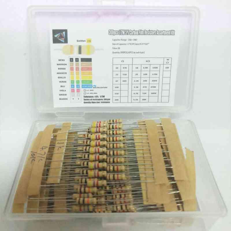 Carbon Film Resistors Assortment Kit