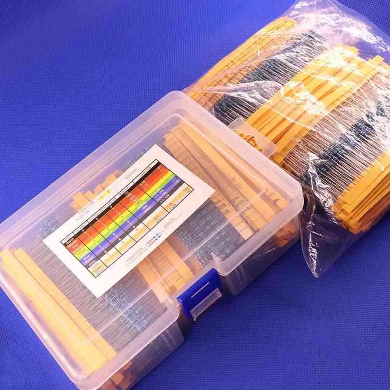 Metal Film Resistors Assorted Pack Kit Set, Assortment Kits Fixed Capacitors