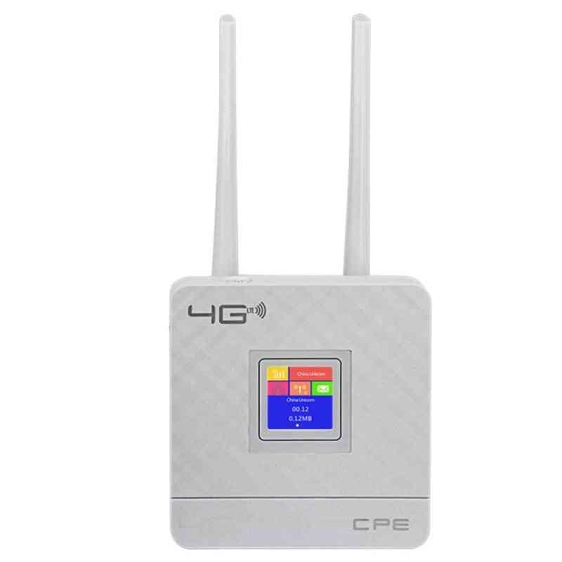 Unlocked Wireless Cpe Router+ Sim Card Slot, Cpe903 3g 4g Hotspot Lte Wifi Router Wan/lan Port Dual External Antennas