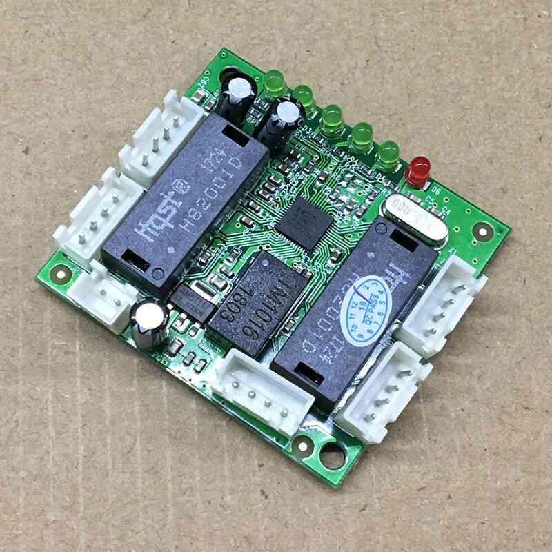 Ethernet Switch 5 Port Pin Head Pcba Board Odm Mini Ethernet Fast Switch Module 10/100mbps Hub