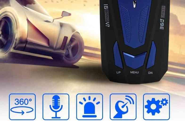 English Russian Auto 360 Degree Universal Vehicle V9 Speed Voice Alert Alarm Warning