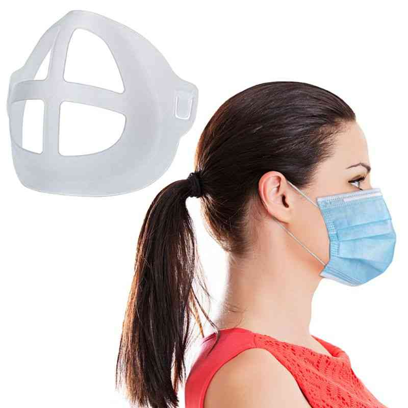 Lipstick Protection Breathable Mask, Bracket Prevent Makeup Removal Pad