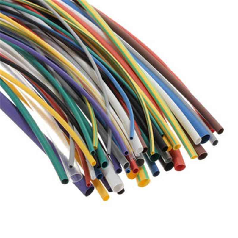 Multi Color Polyolefin, 2:1 Halogen-free Heat Shrink Tubing Tube, Assortment Sleeving Wrap Tubes
