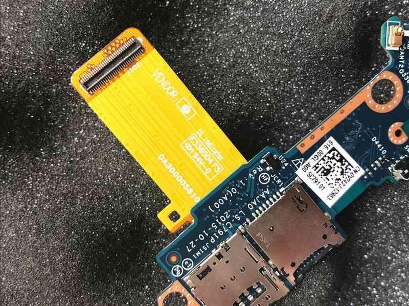 Tablet Sim / Sd Card Reader Power Button Daughter Circuit Board Ls-c791p 0v242j