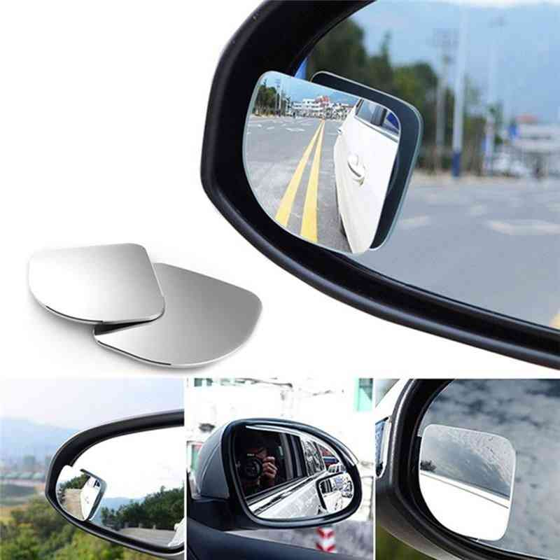Wide Angle Adjustable Car Rear View Vehicle Blind Spot Rimless Mirror