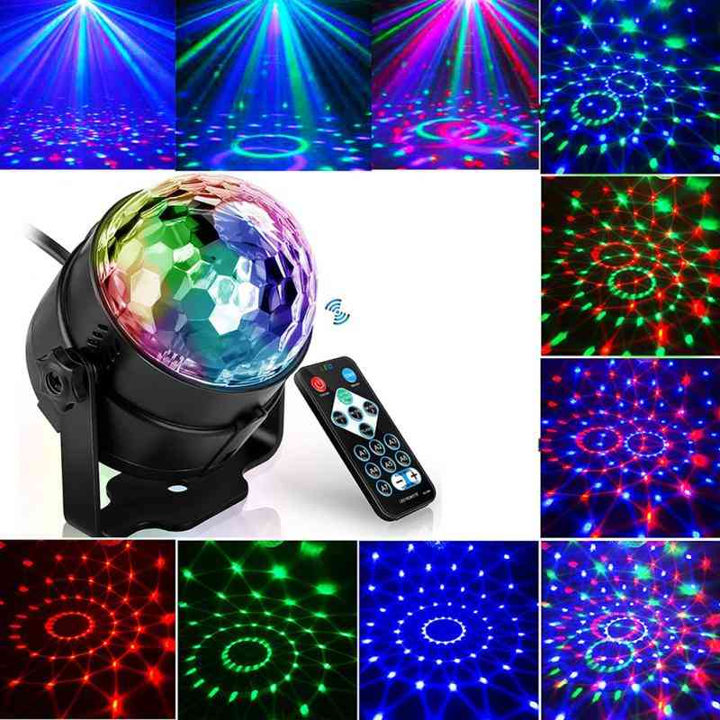 Colorful Sound Activated Disco Ball Led Stage Lights Laser Projector