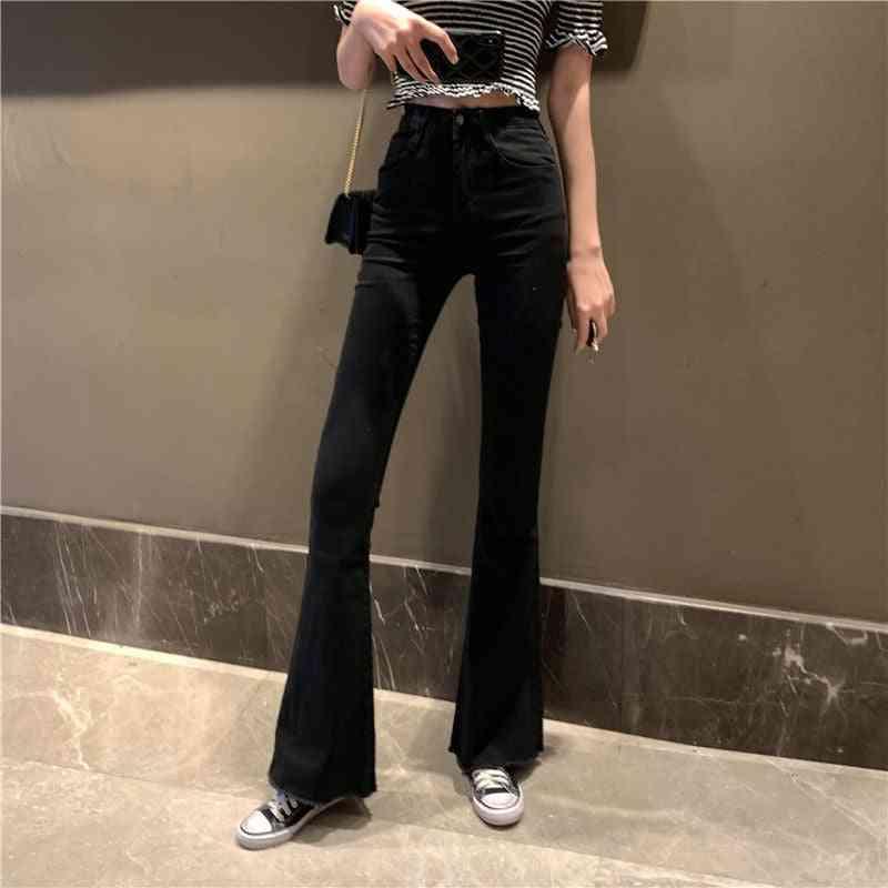 High Waist Flare Jeans Bell Bottom Denim Skinny Women's Leg Vintage Pant