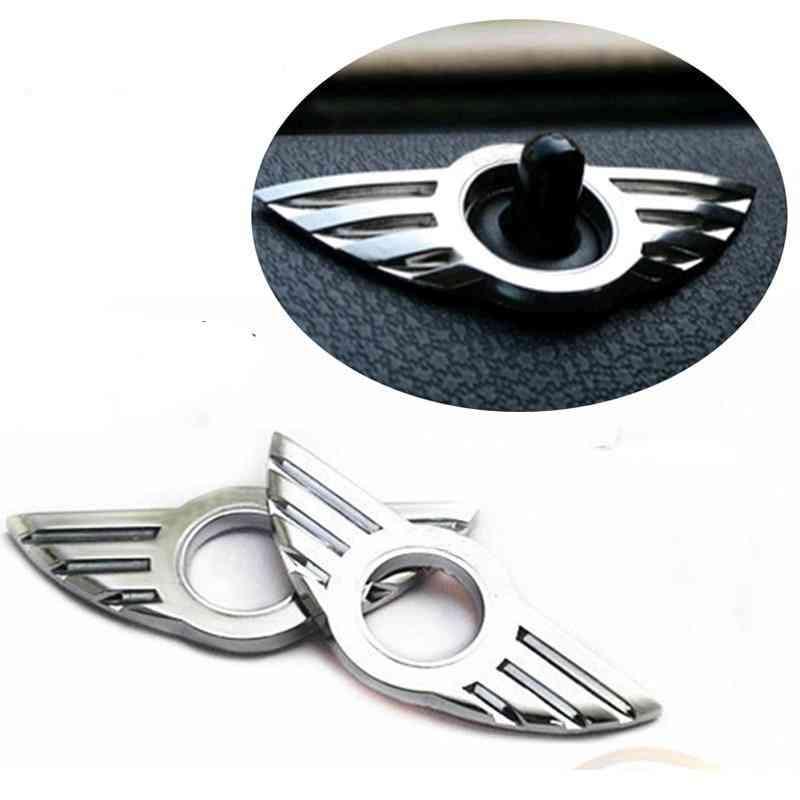 Mini Cooper Countryman Car Auto Accessories Door Pin Lock, Wing Emblem Badge Stickers