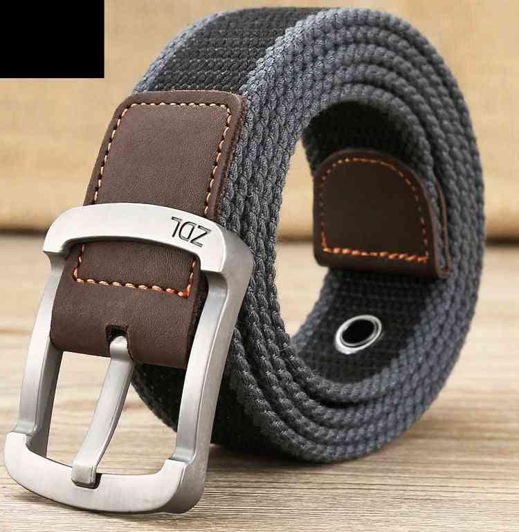 Unisex Canvas Belt Outdoor Tactical Belt For Jeans