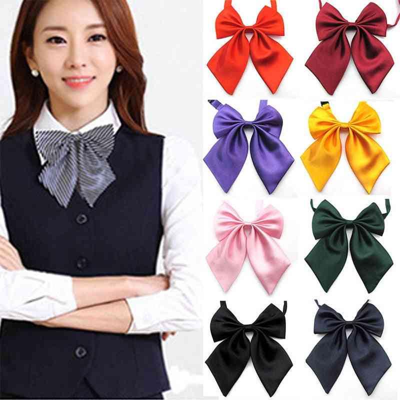 Women's Bow Tie, Girl Student Hotel Clerk / Waitress Neck Wear Ribbon Ties