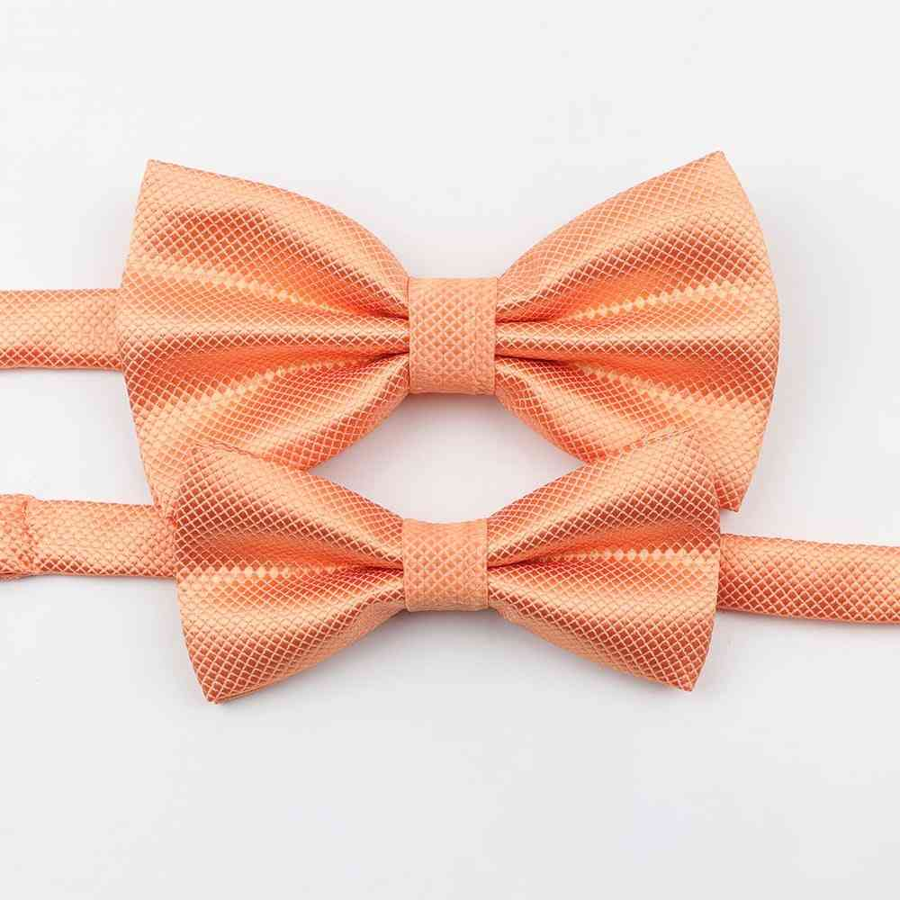Solid Parent-child Bowtie Set, Men Women Kids, Colorful Butterfly Satin Party, Dinner, Wedding Bow Tie Accessory