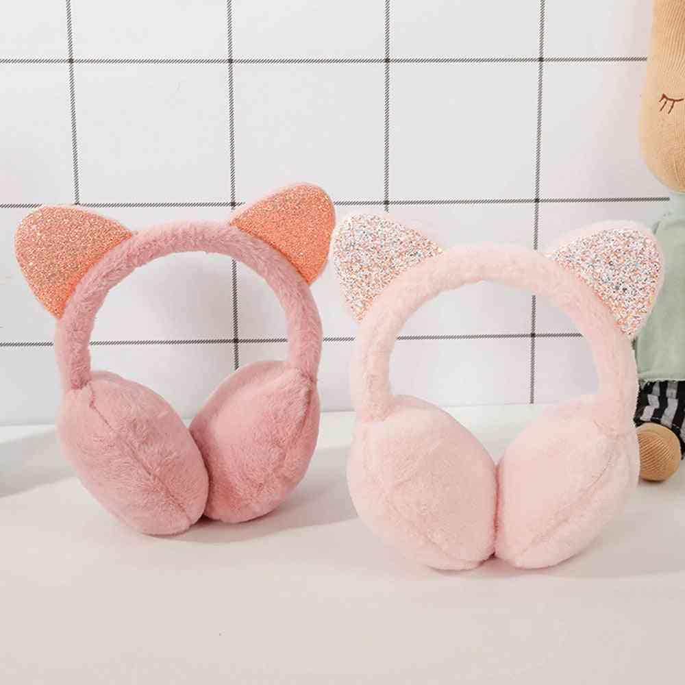 Unisex Soft Shiny Earmuffs Headband