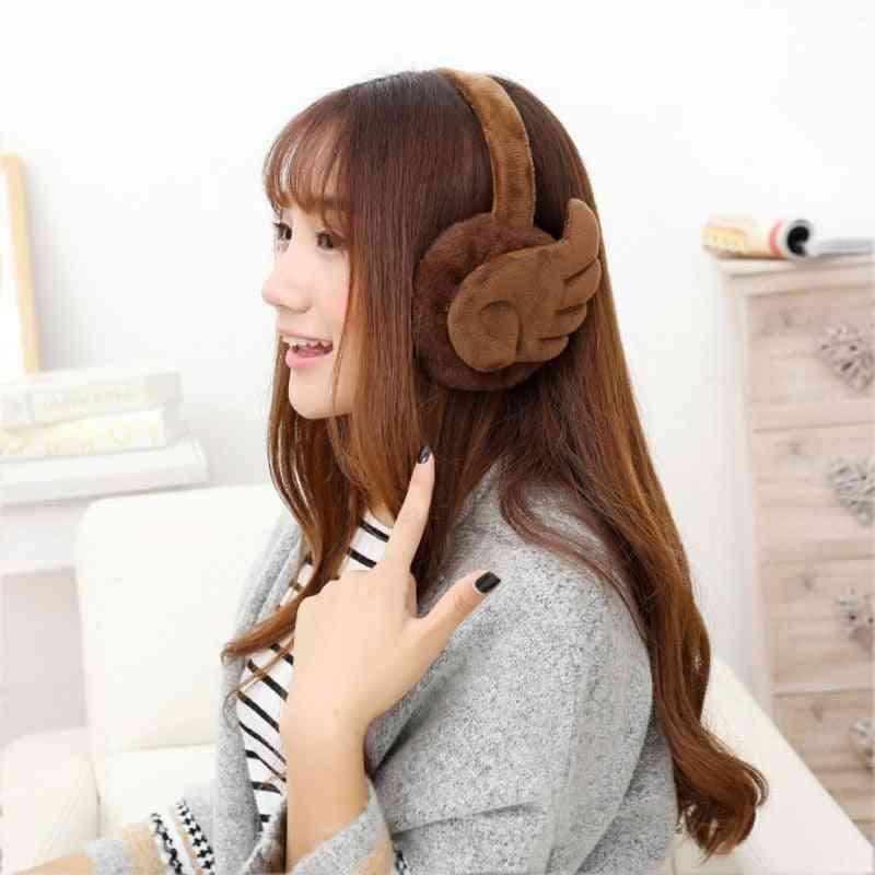 Wing Plush Warm Ear Protector Fur Earmuff