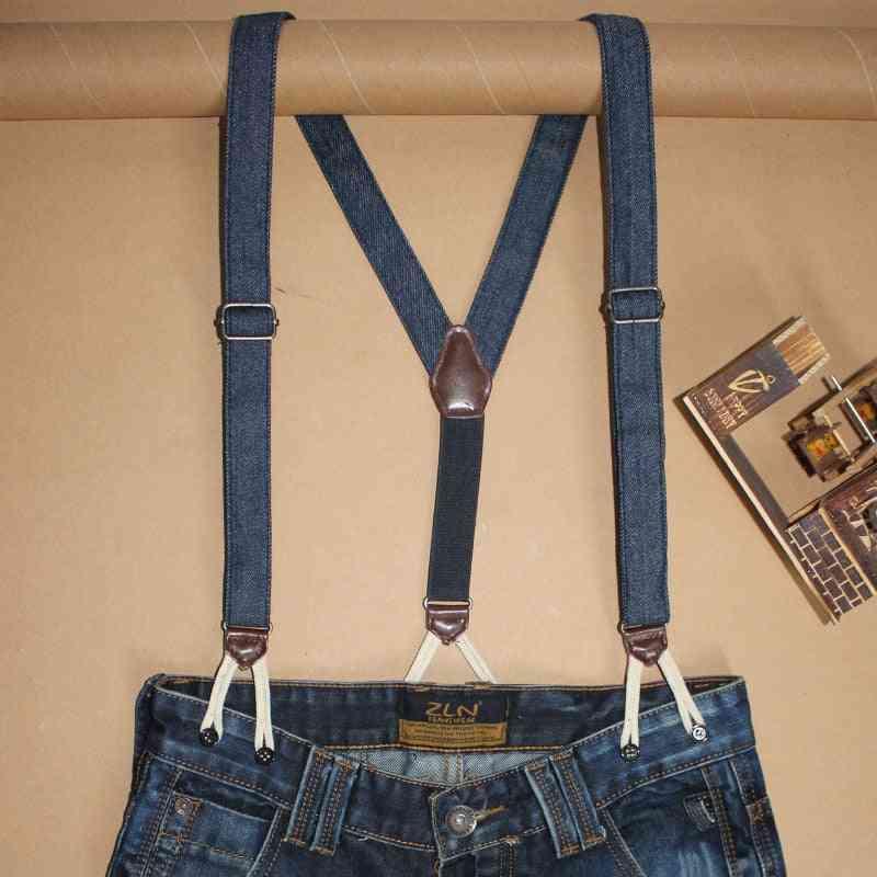 Men Women Fashion Denim Suspenders For Jeans