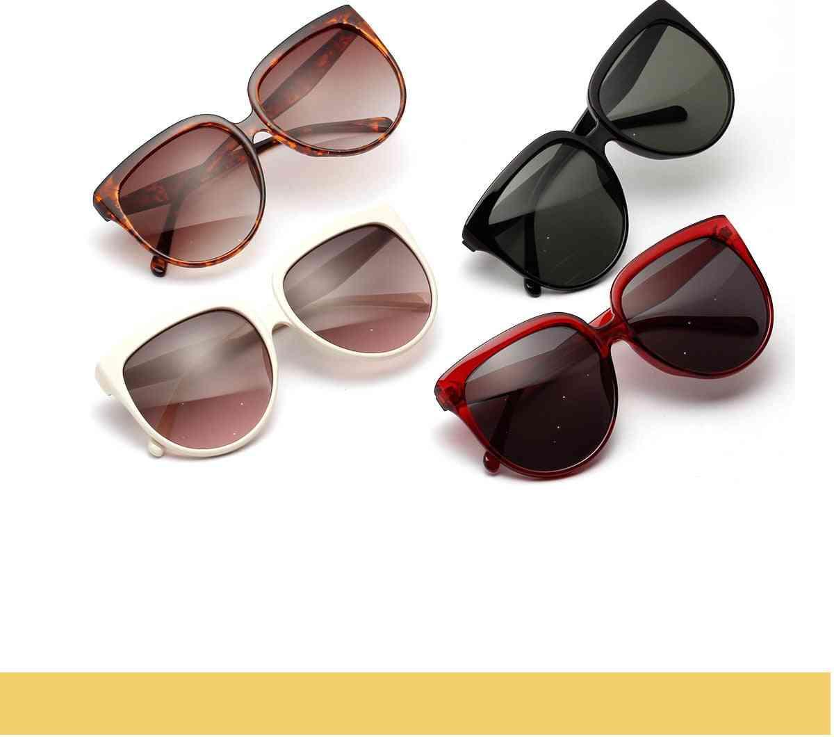 Summer Women Retro Sunglasses, Round Wide Uv, Trendy Oversized Eyeware