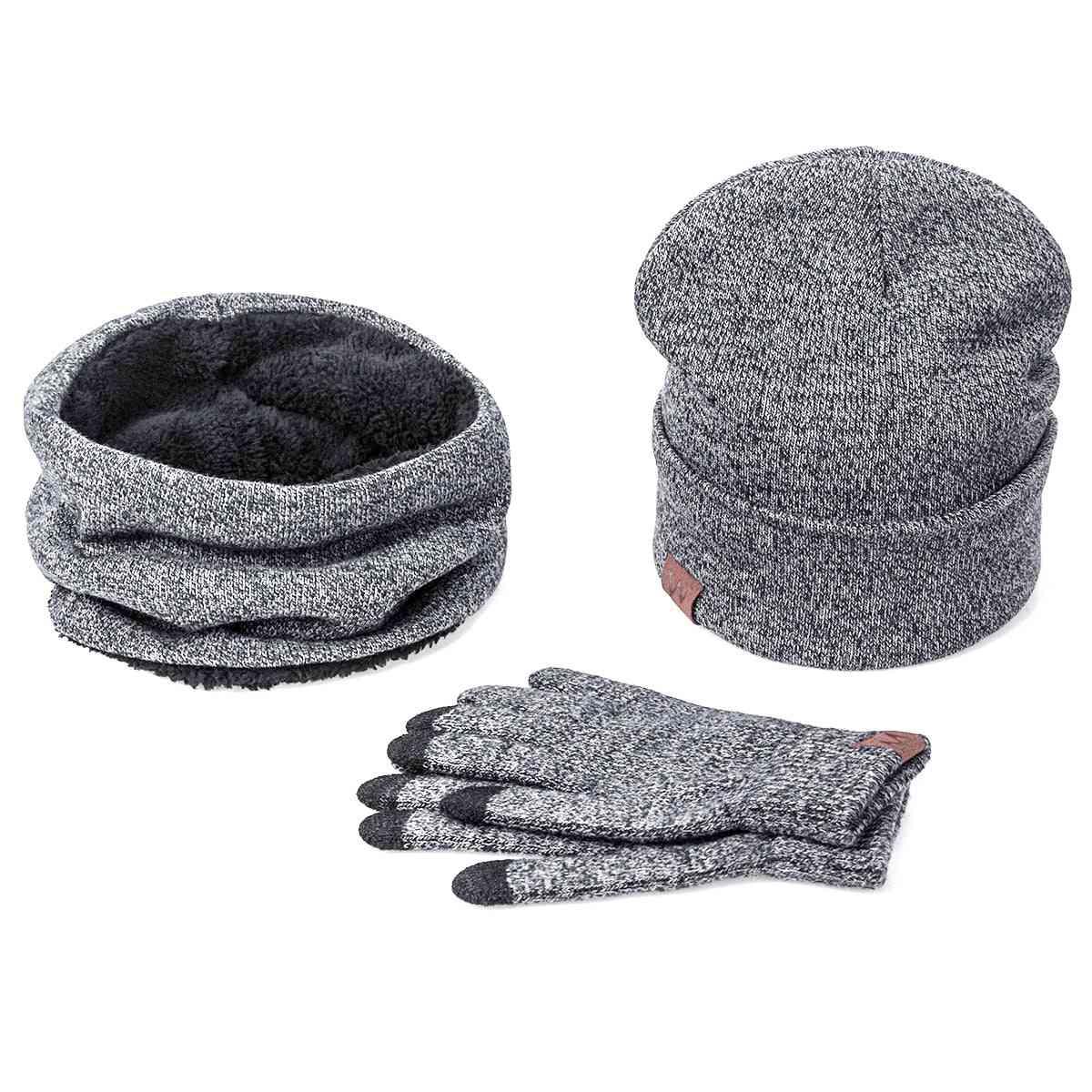 Winter Warm Hat Scarf, Gloves Set For Unisex
