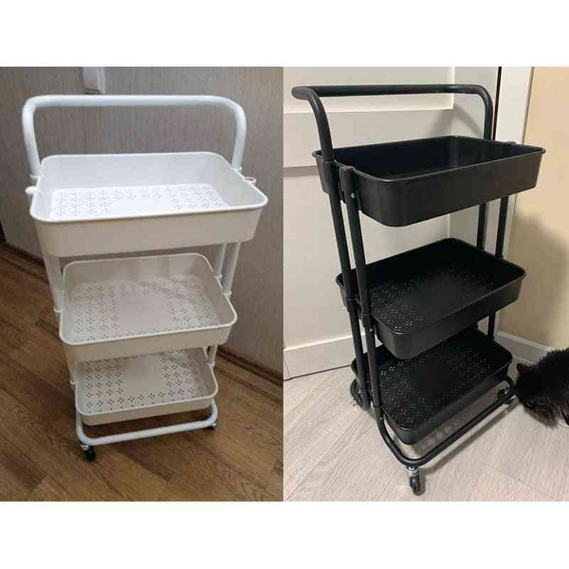 Movable Shelf Wheels Household Stand Holder