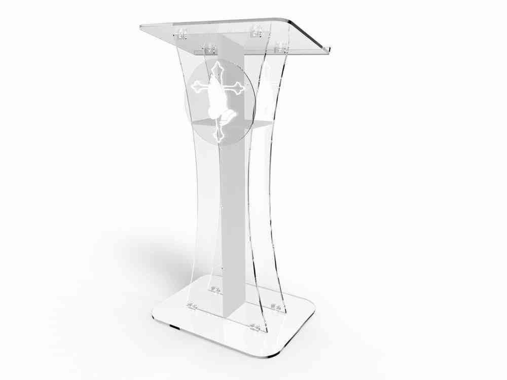 Acrylic Desktop Church Pulpits And Lecterns Decoration Table Furniture Minister's Desk