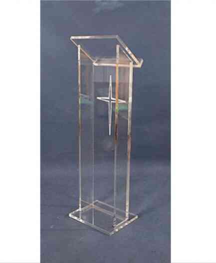 Clear Perspex Podium Clear Acrylic Lectern Sand Pulpit Plexiglass