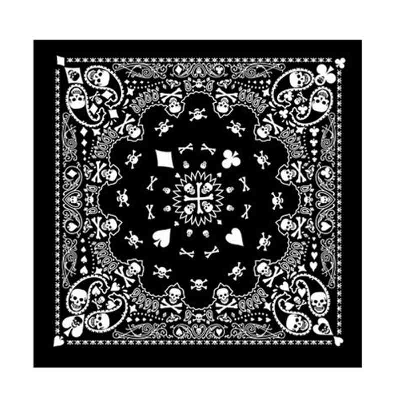 Unisex Hip Hop Skull, Paisley Bandana Headband