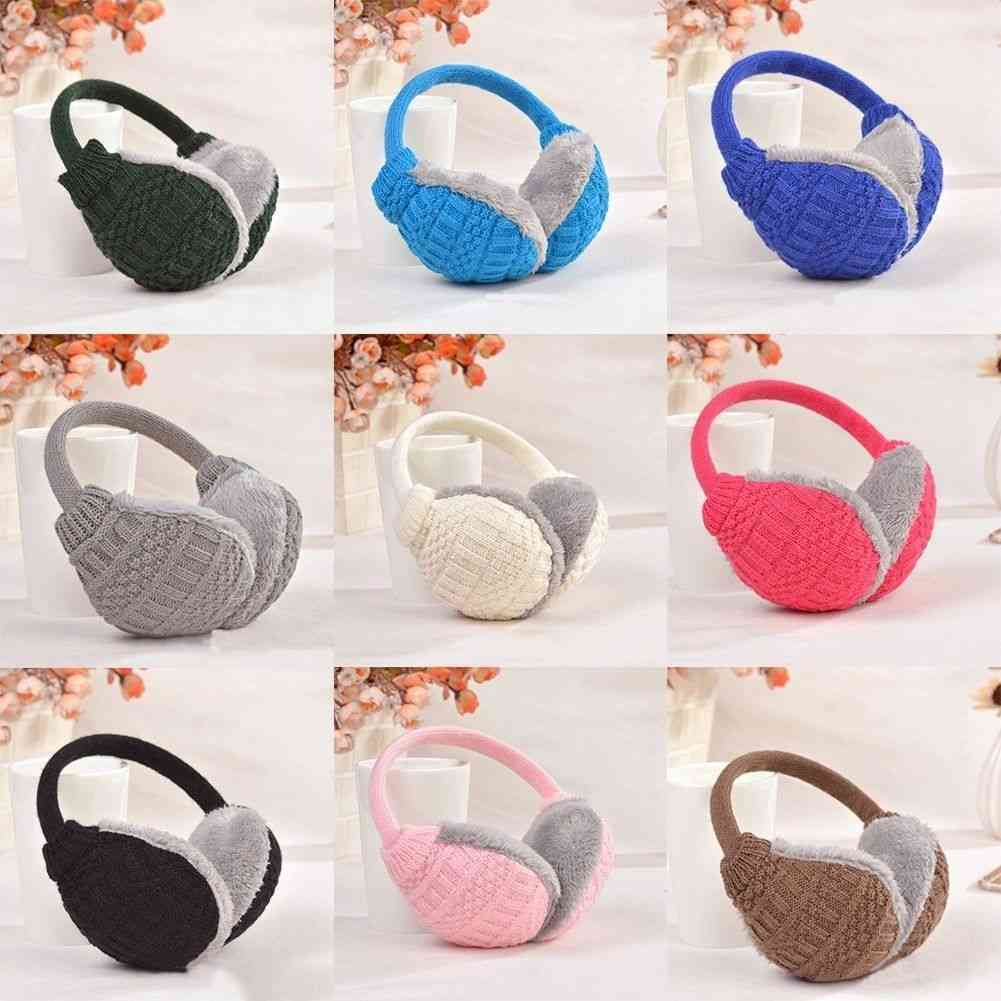 Winter Warm Knitted Earmuffs, Ear Warmers, Women,, Earlap