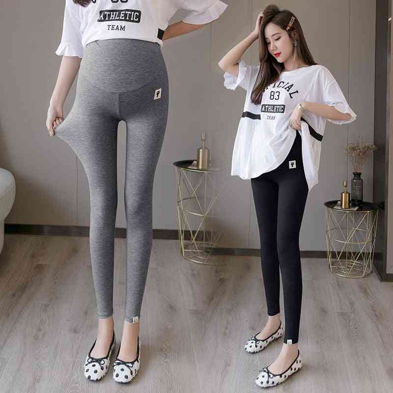 Summer Thin Maternity Legging, High Waist Adjustable Belly Clothes