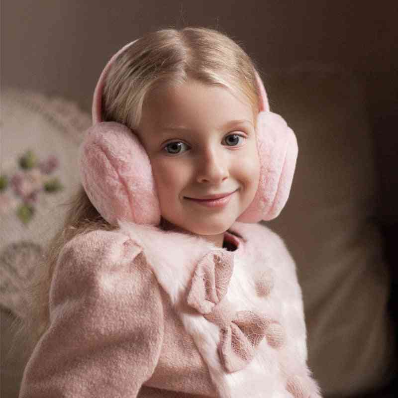 Children Winter Solid Color Fur Earmuffs For And, Ear Warmer Headphones And Comfortable Kids Earlap