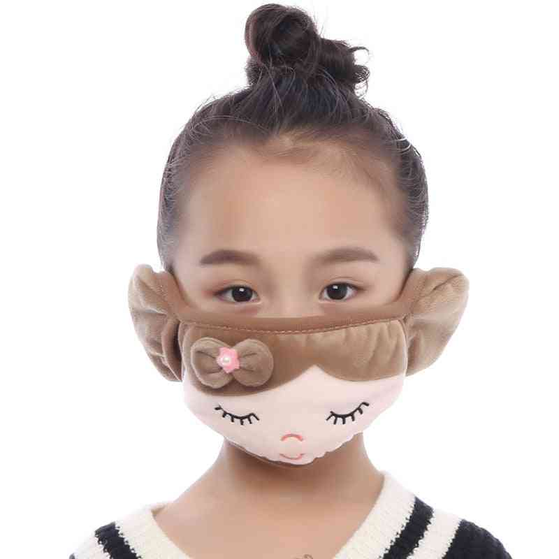 Windproof And Dustproof Cute Cartoon Pattern Ear/mouth Cover