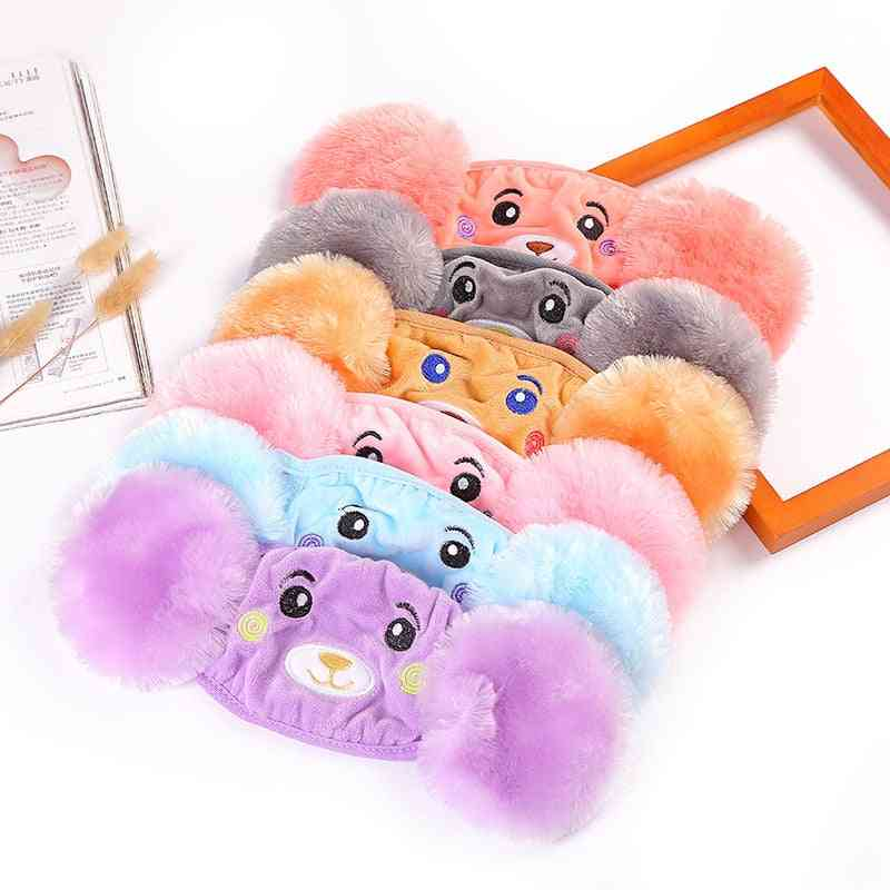 Winter Plush Cartoon Cotton Warm Earmuffs, Mouth And Ear Cover