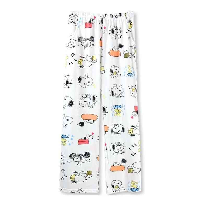 Cute Cartoon Print Comfortable Lounge Pants-sleepwear