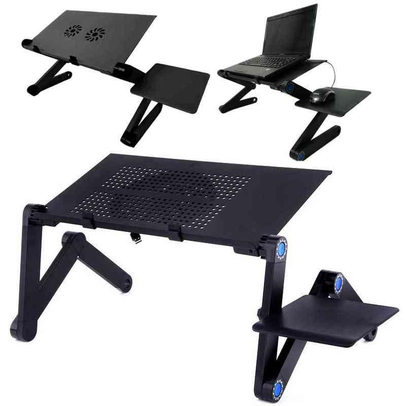 Cooling Fan Laptop Desk Adjustable/foldable Computer Desks Notebook Holder