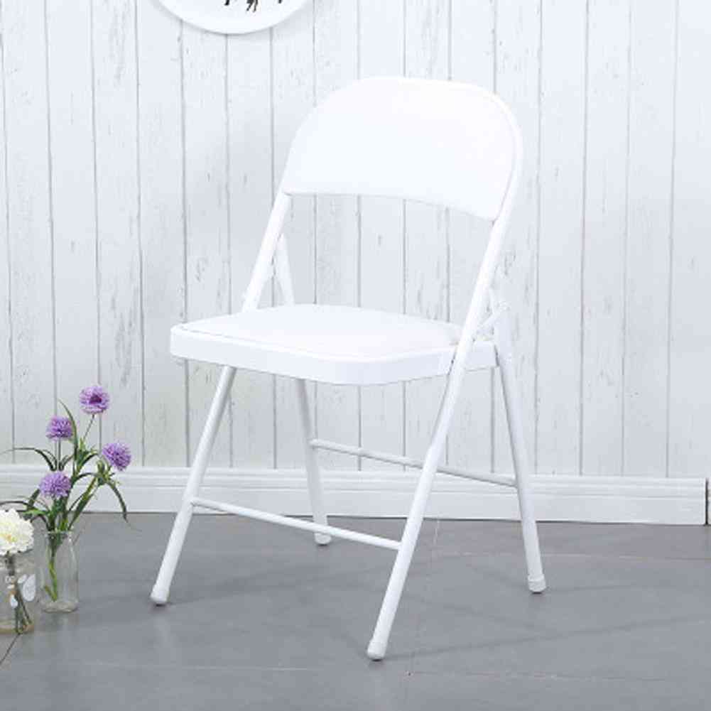 Portable Folding Metal Chair For Home Office
