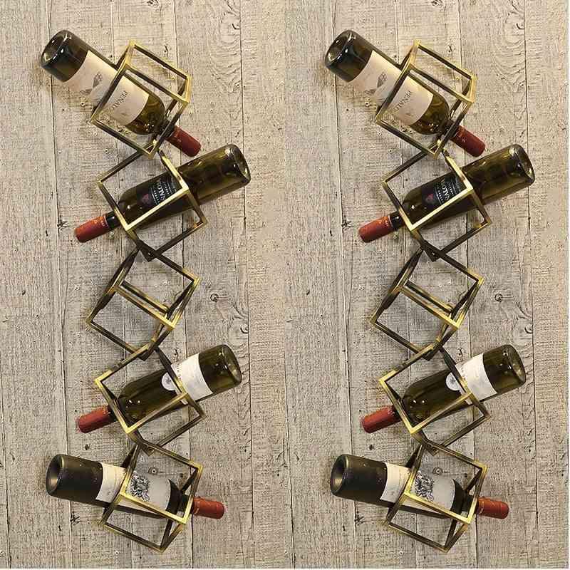 Creative Metal Grape Wine Rack Wall Hanging On The Wall Of Restaurant