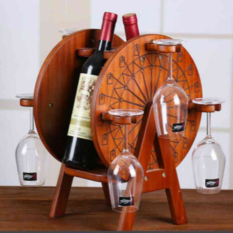 Wine Rack Decoration Nordic Creative Simple Solid Wood Shelf /hanging Cup Holder