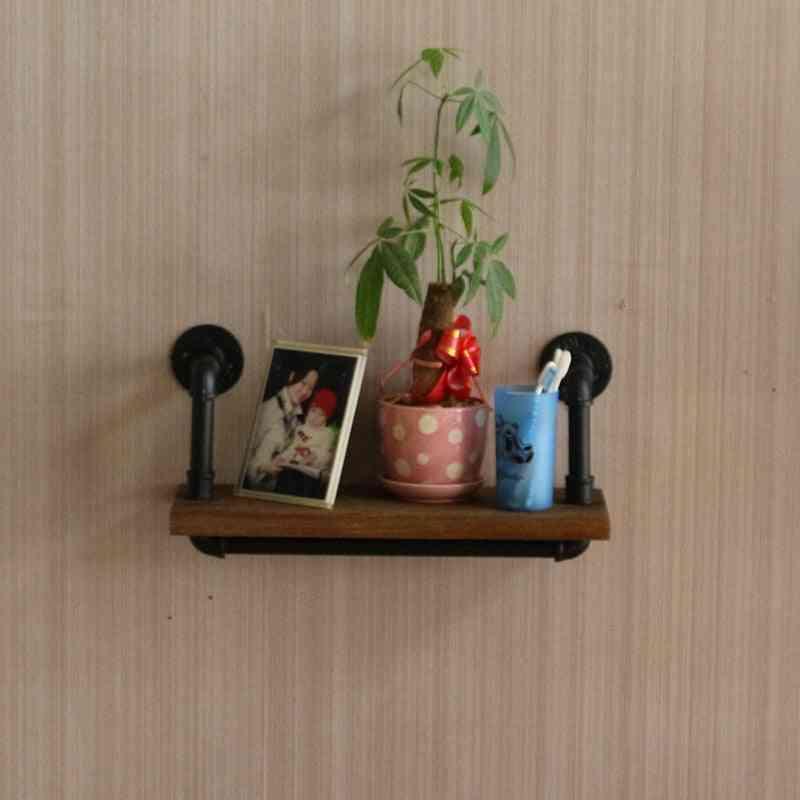 Simple Modern Iron Art Shelf/creative Bookshelf Board Partition Wall Hanging Shelf