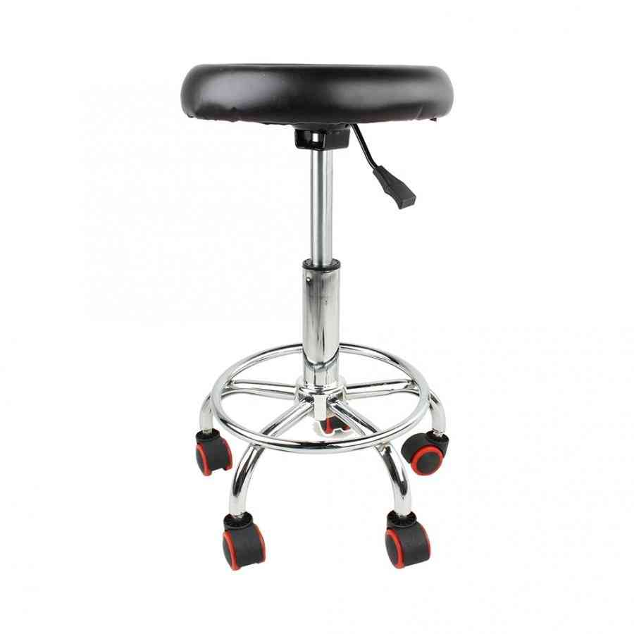 Height Adjustable Salon Rolling Swivel Stool