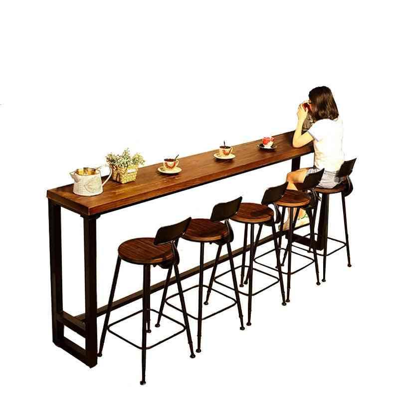 Modern Wood Metal High Bar Table