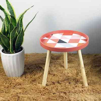 Creative Nordic Style, Round Shaped Small Bedside Coffee Table
