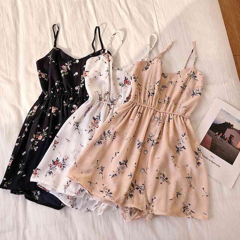 Sleeveless Floral Print Women Jumpsuits