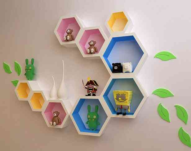Wall Mounted, Creative Decorative Storage Partition Rack