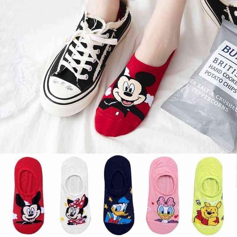 Cartoon Animal Printed Cute Ankle Socks