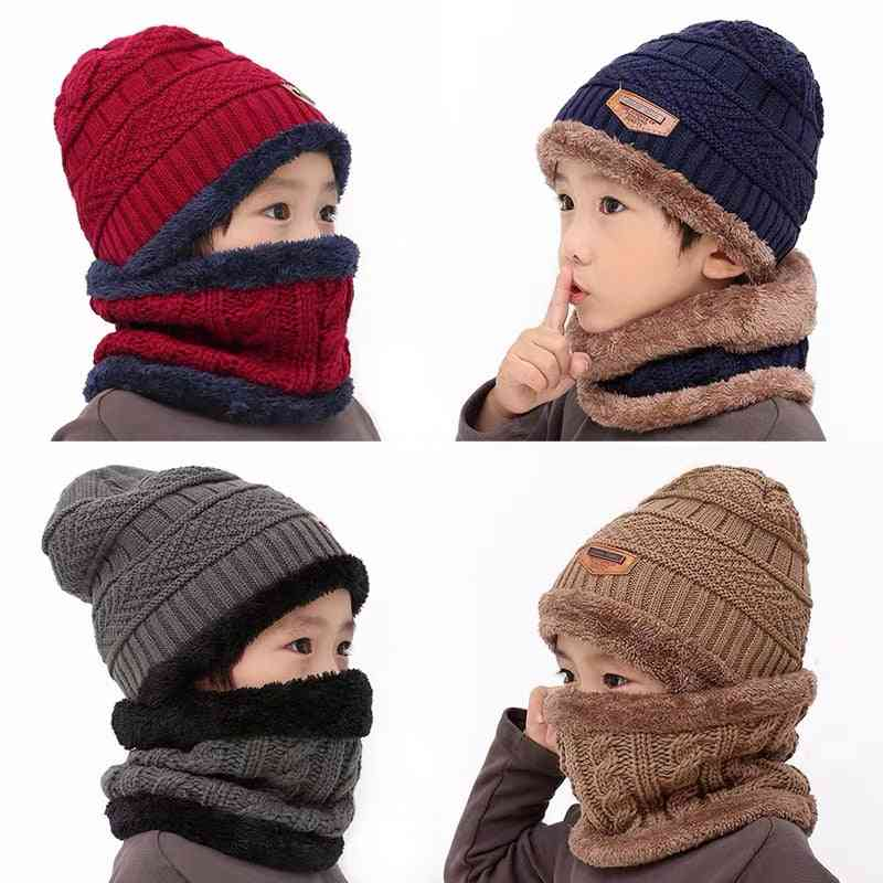 Winter's Knit Beanie Ring Scarf & Hat Set