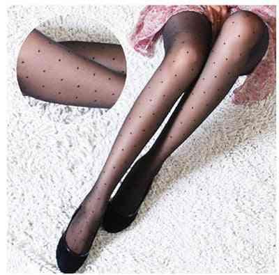 Women's Tights Classic Small Polka Dot, Silk Stockings Pantyhose