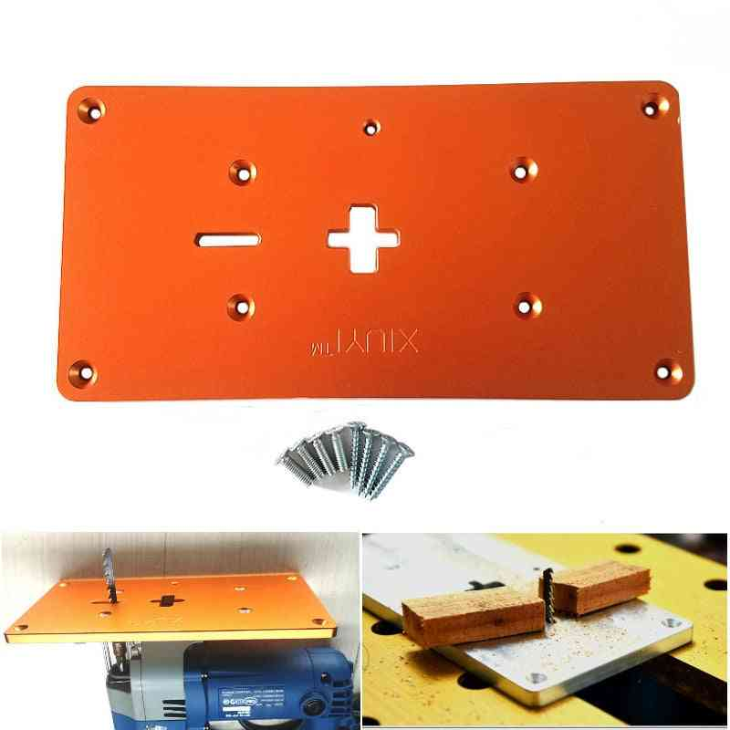 Aluminum Electric Jig Saw, Flip Board, Router Table Insert Plate For Woodworking Benches