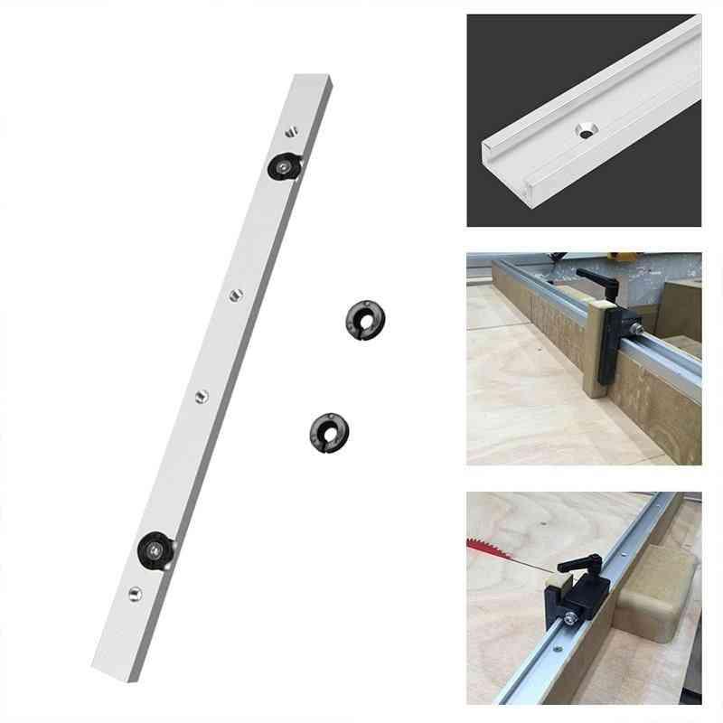 Metal Silver, T-slot Slider, Miter Bar Hardware, T-tracks Practical, Pusher Accessory