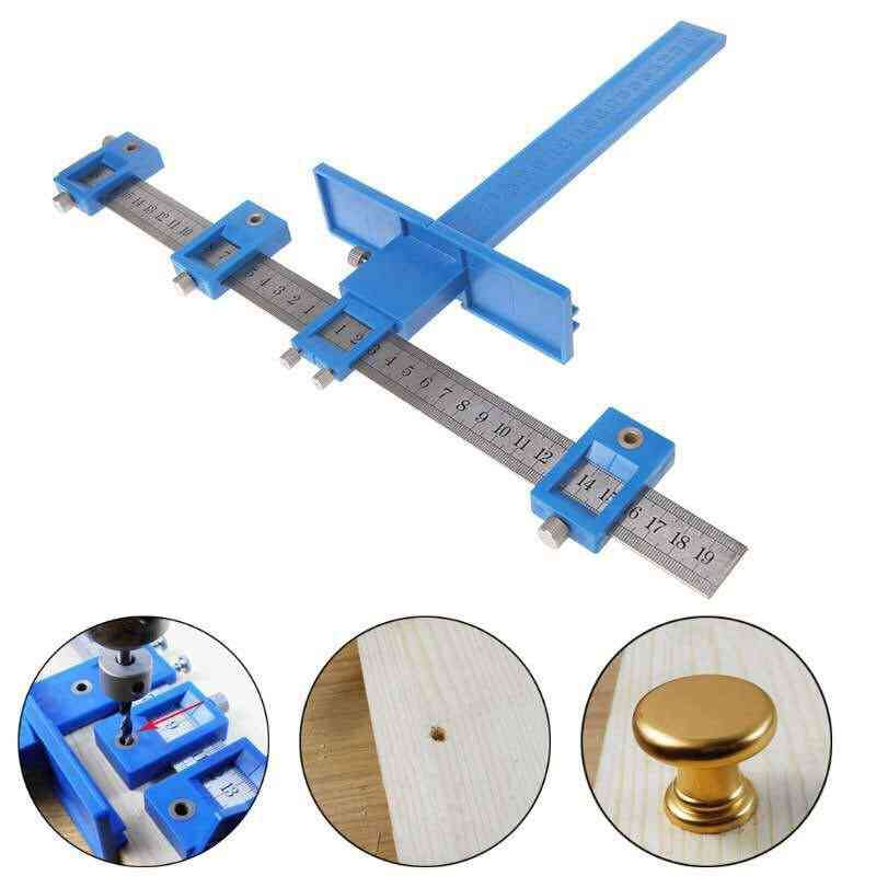 Cabinet Hardware Punch Locator Tool Template For Wood Drilling