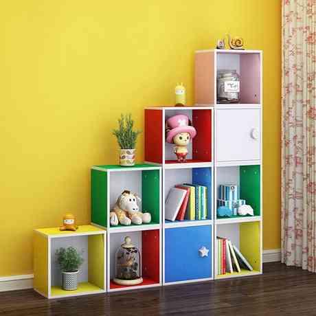 Children Cabinet Furniture Wooden Bookshelf / Bookcase Toy Storage Cabinets